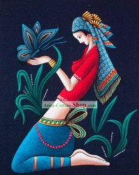 Batik Hanging-Chinese Beauty 1