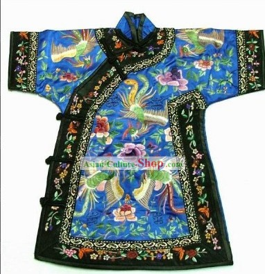 100% Hand Made Embroidery Phoenix Chinese Empress Robe