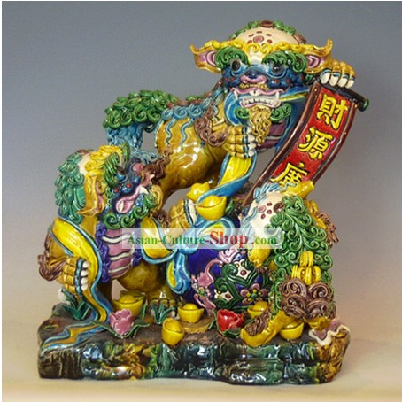 Chinese Cochin Ceramics-Announce Good News Lion