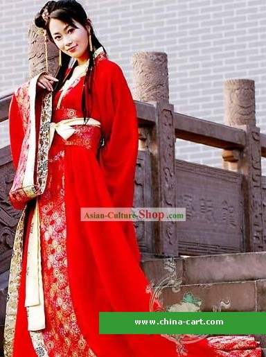 Chinese Traditional Wedding Dress Complete Set