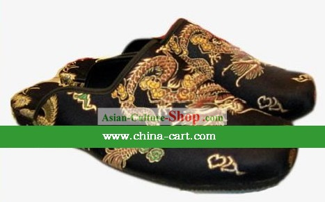 Chinese Hand Made Traditional Dragon Slippers(not available)