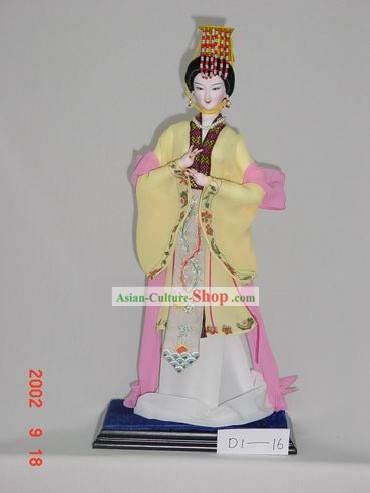 Handmade Peking Silk Figurine Doll - Wu Zetian,First Woman Emperor in Chinese History