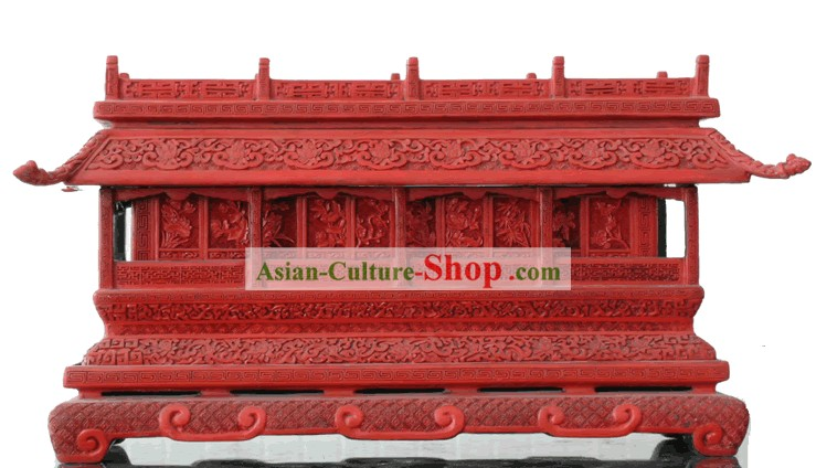 Chinese Hand Carved Palace Lacquer Craft-Tian An Men Square(out of stock)
