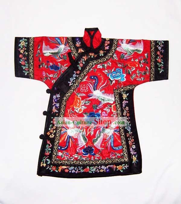 100 Percent Hand Made Embroidery Red Chinese Empress's Robe