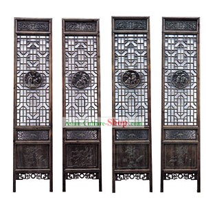 Noble Padauk Qing Dynasty Style Folding Screen