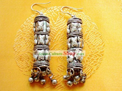 Tibet Natural Silver Earrings