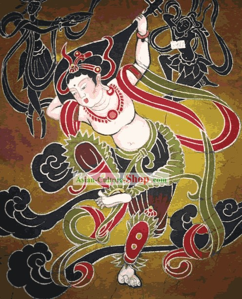 Batik Hanging-Lute Woman