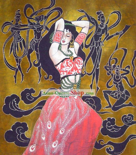 Hand Made Batik Hanging-Dancing Minority Girl