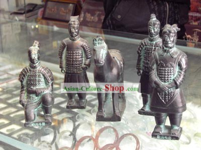 China Terra Cotta Warrior Pottery Set(5 Statues)