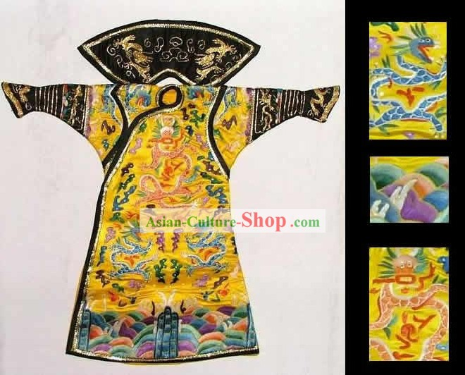 100% Hand Made Embroidery Silk Imperial Robe of Chinese Emperor