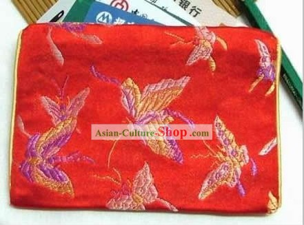 Chinese Red Butterfly Credit Card Purse