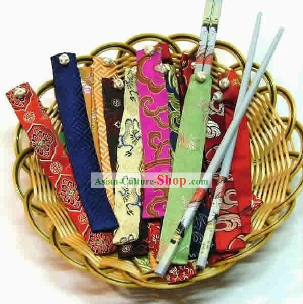 Chinese Classic Silk Chopsticks Set