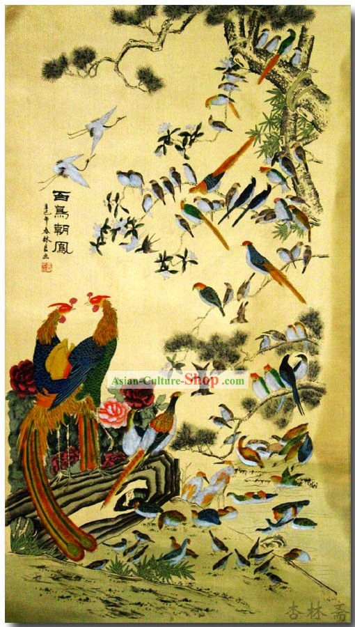 Chinese Classic Traditional Painting by Zhang Chunlin-Hundreds of Birds