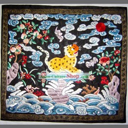 Qing Dynasty Third Grade Military Government Offical Hand Embroidery Flake