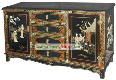 Chinese Palace Lacquer Ware Cabinet-Ancient Beauties