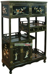 Chinese Palace Lacquer Ware Cabinet-Flower, Bird and Beauty