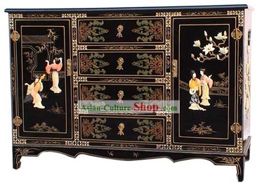 Chinese Palace Lacquer Ware Wine Bar