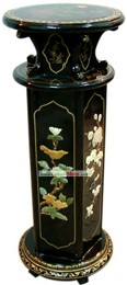 Chinese Palace Lacquer Ware Flower Shelf 2