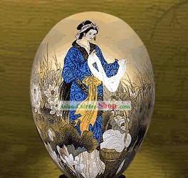 Unbelievable Hand Painted Colorful Egg-Xi Shi(one of four ancient beauties)