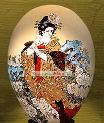 Chinese Wonders Hand Painted Colorful Egg-Gui Fei Empress (one of four ancient beauties)