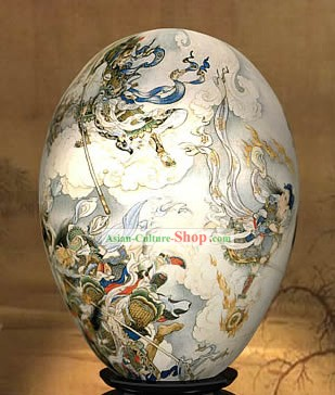 Chinese Wonders Hand Painted Colorful Egg-Fairies Fighting of West Journey