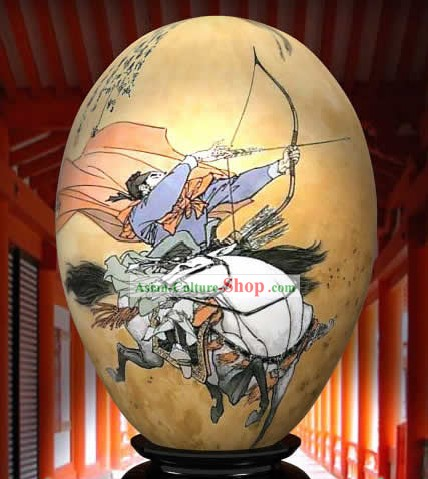 Chinese Wonders Hand Painted Colorful Egg-Guan Gong