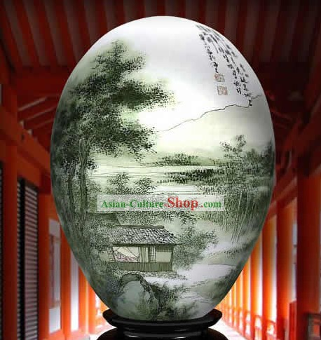 Chinese Wonders Hand Painted Colorful Egg-Bamboo Country