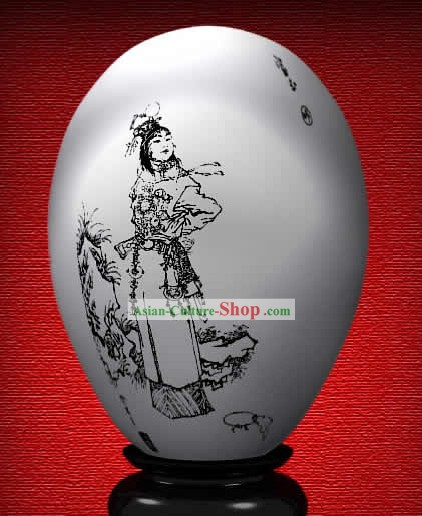 Chinese Wonder Hand Painted Colorful Egg-Jia Baoyu of The Dream of Red Chamber