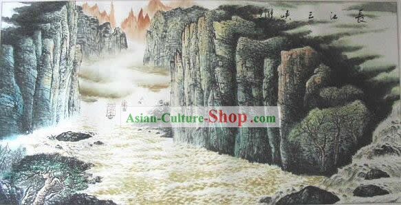 Chinese Yangtze River Painting by Mo Xianglou
