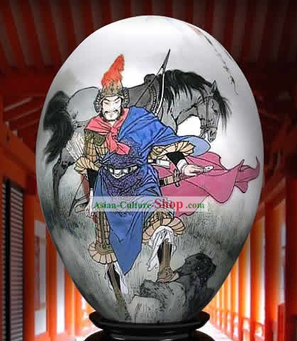 Chinese Wonders Hand Painted Colorful Egg-Du Fei Hero