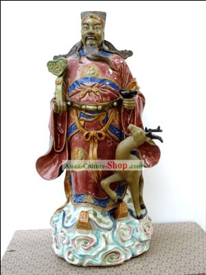 Hand Made Foshan Shi Wan Artistic Ceramics Statue-Ancient High Grade Government Official