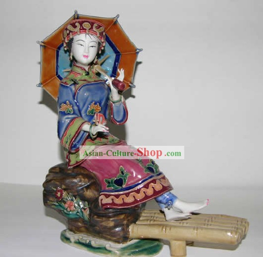 Chinese Hand Made Shi Wan Ceramics-Ancient Palace Princess