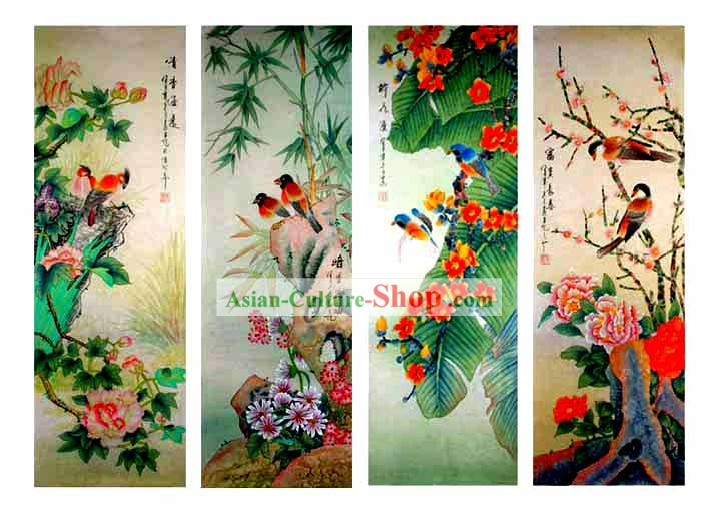 Chinese Wash Painting-Beautiful Four Seasons