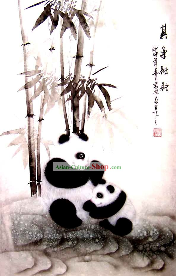 Chinese Classic Wash Painting-Panda of China