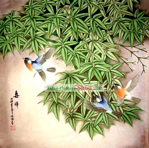 Chinese Wash Painting-Thrush