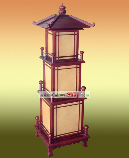 Unique Chinese Antique Style Lei Feng Tower Shape Floor Lamp