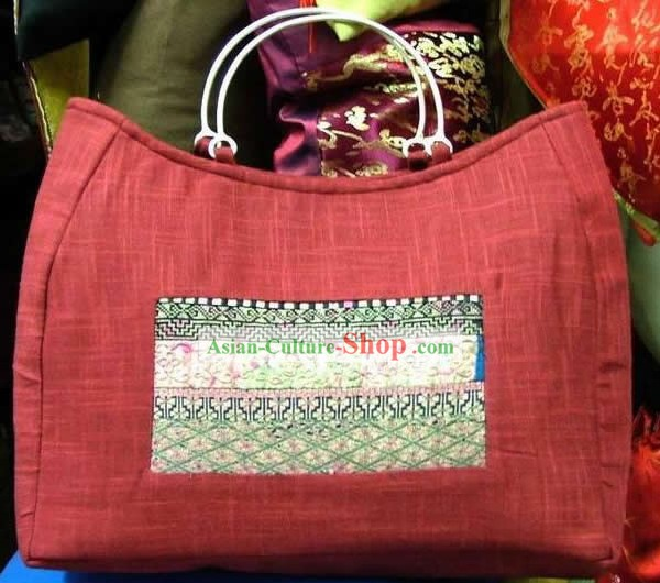 Hand Made Old Embroidery Flake Bag