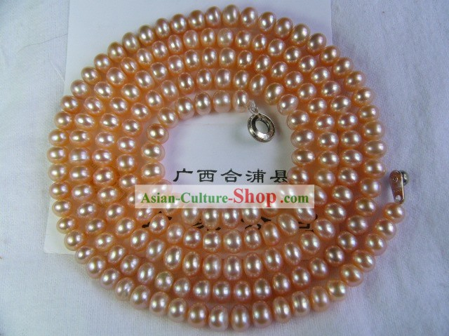 Marvellous Nature 1200MM Long Pink Pearl Necklace