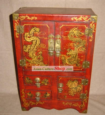 Ancient Wedding Dragon and Phoenix Cabinet