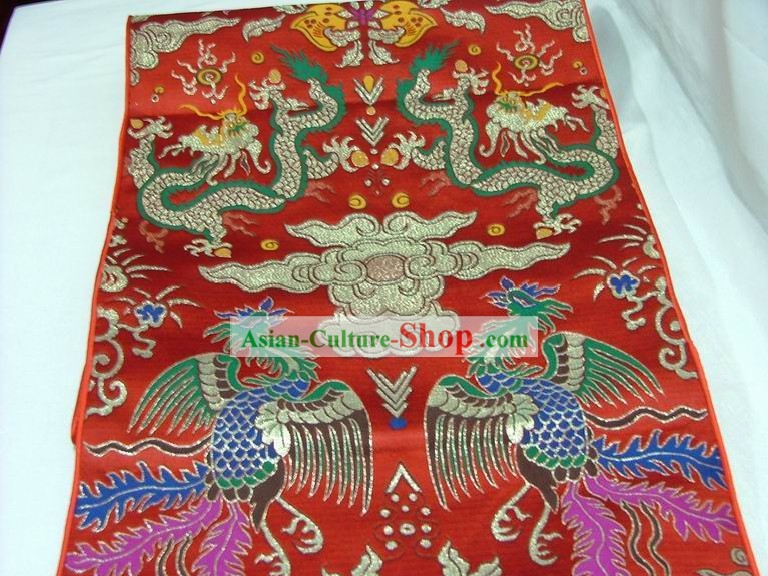 Traditional Dragon and Phoenix Table Runner/Phoenix Scroll