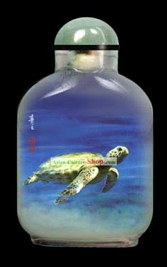 Snuff Bottles With Inside Painting Chinese Animal Series-Turtle