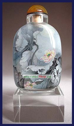 Snuff Bottles With Inside Painting Birds Series-Among the Flower