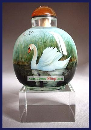 Snuff Bottles With Inside Painting Birds Series-Goose