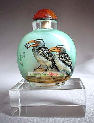 Snuff Bottles With Inside Painting Birds Series-Golden Eagle