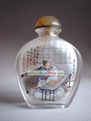 Snuff Bottles With Inside Painting Characters Series-Chinese Most Famous Poet Li Bai
