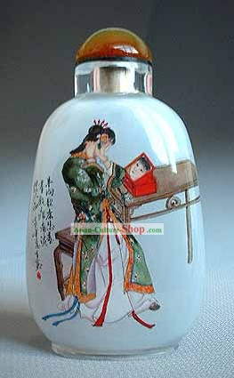 Snuff Bottles With Inside Painting Characters Series-Beauty Makeup