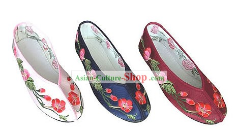 Chinese Handmade Embroidery Shoes-Morning Glory