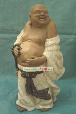 Chinese Porcelain Statue from Shi Wan-Happy Monk