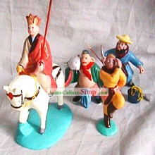 Chinese Classic Clay Figurines Zhang-West Journey