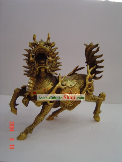 Chinese Classic Brass Statue-Kylin(Qilin)